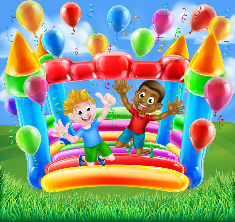Bouncy Castle Fun stock images