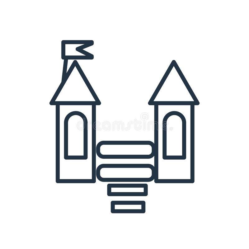 Bouncy castle icon vector isolated on white background, Bouncy castle sign. Bouncy castle icon vector isolated on white background, Bouncy castle transparent vector illustration
