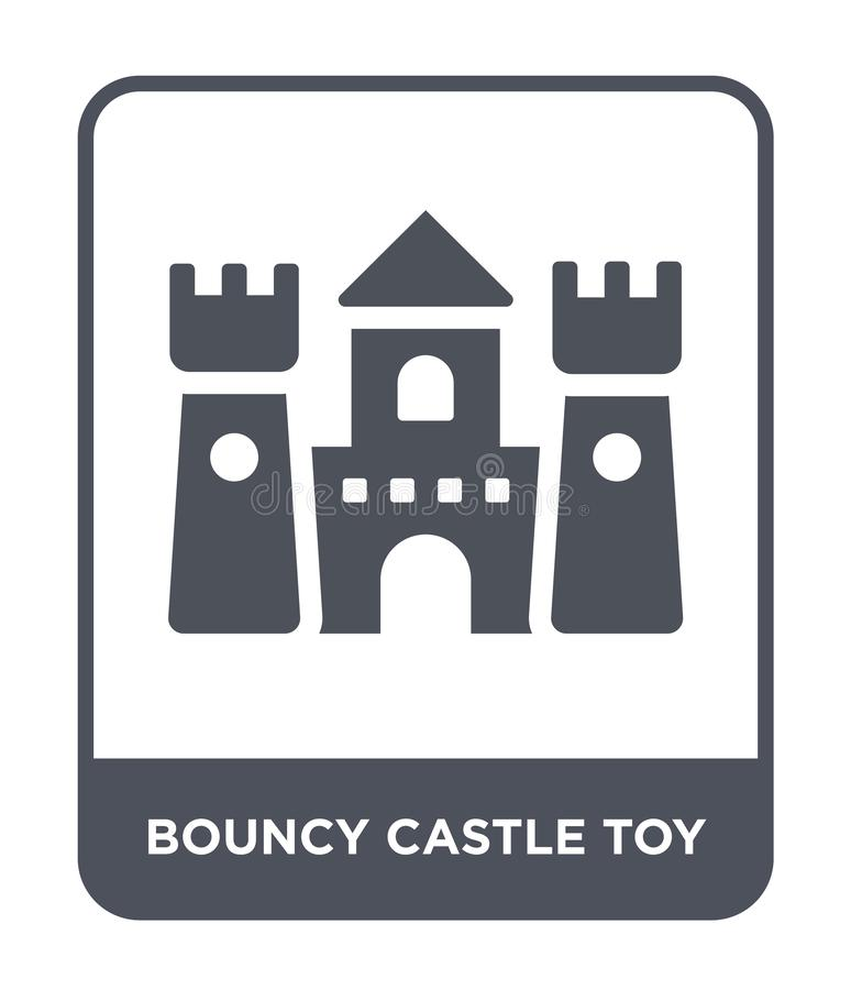 Bouncy castle toy icon in trendy design style. bouncy castle toy icon isolated on white background. bouncy castle toy vector icon. Simple and modern flat symbol stock illustration