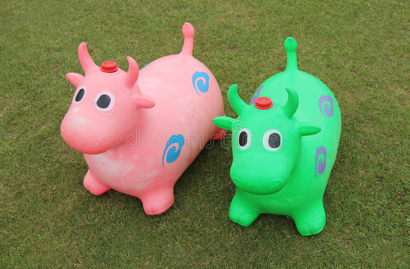 Bouncy Cow Hoppers. royalty free stock image