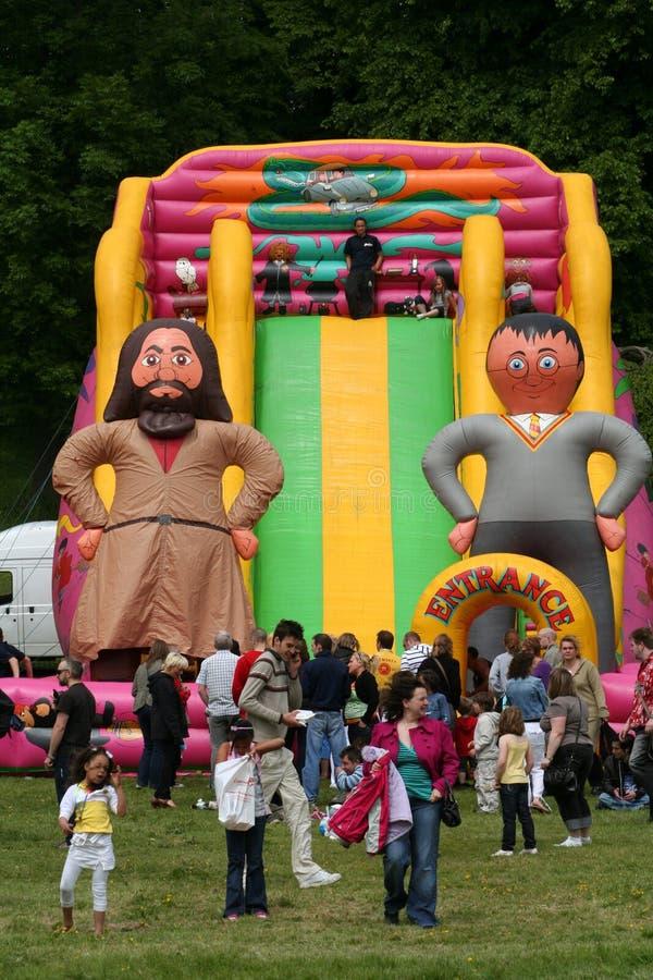 Bouncy Slide. stock photos