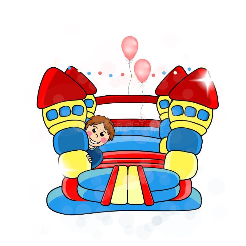 Bouncykasteel - het vermaak van kinderen stock illustratie