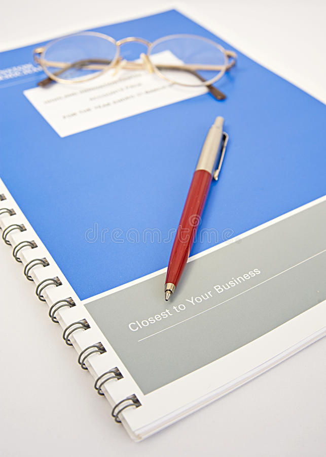 Download Bound Copy:  Annual Accounts. Royalty Free Stock Photos - Image: 18204598