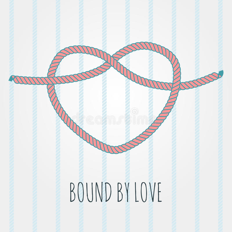 Bound by love stock illustration