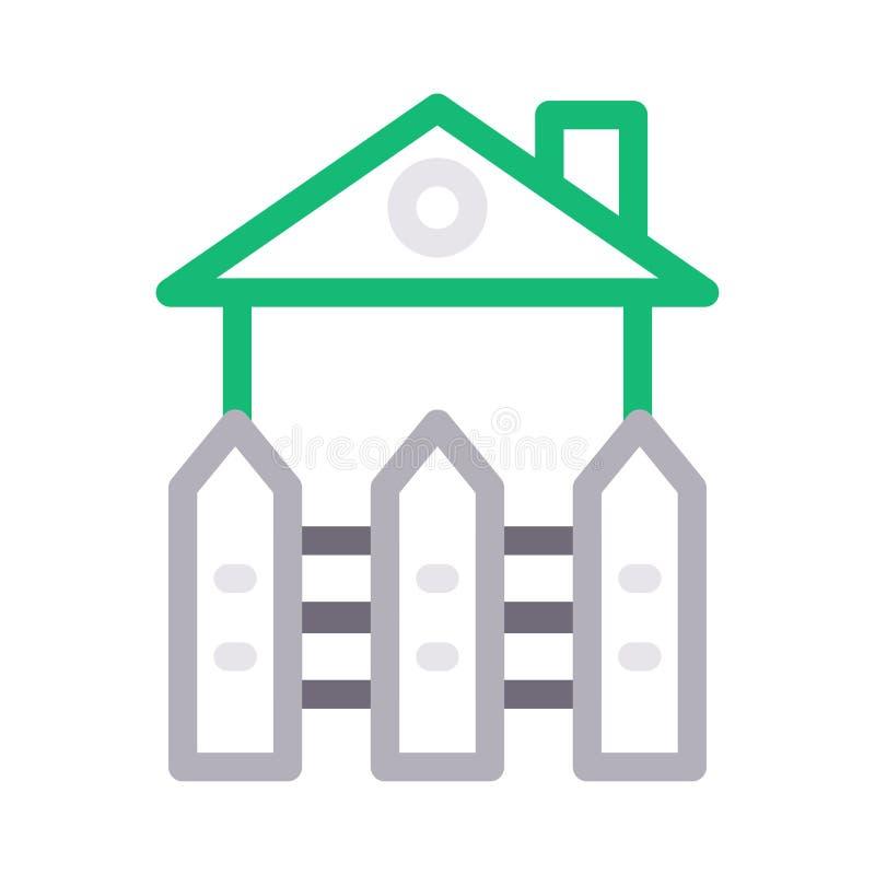 Boundary color line vector icon. Boundary icon for website design and development, app development. Premium pack stock illustration