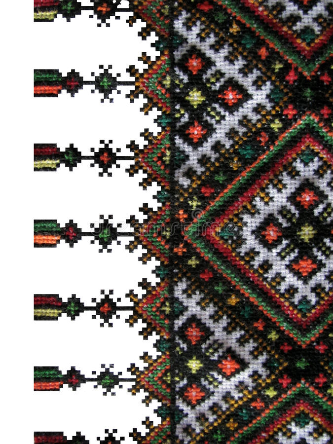 The boundary of the cross-stitch. The boundary of the traditional Ukrainian cross-stitch stock image