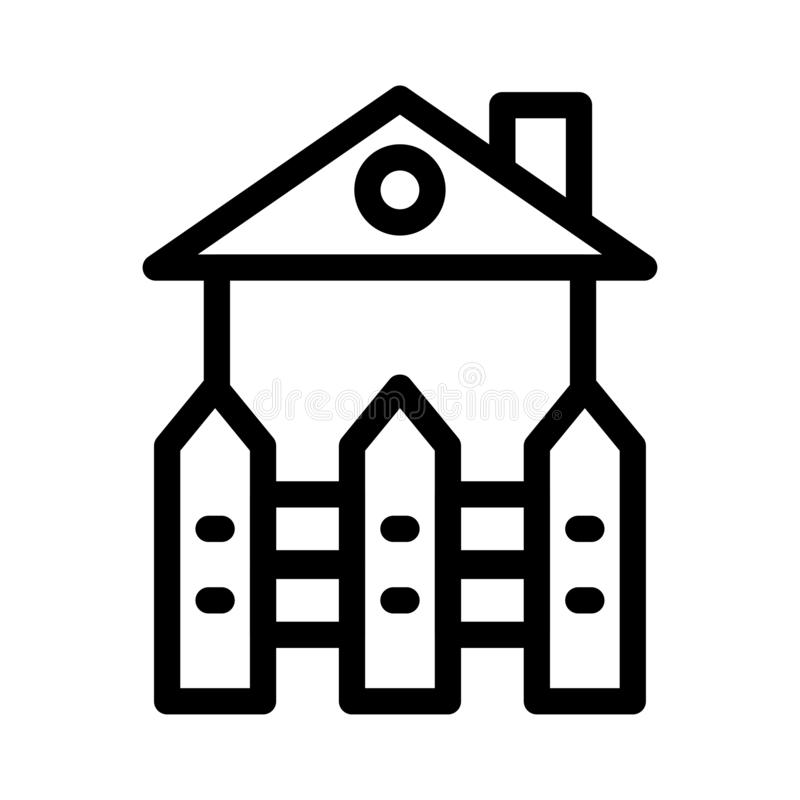 Boundary thin line vector icon. Boundary icon for website design and development, app development. Premium pack vector illustration