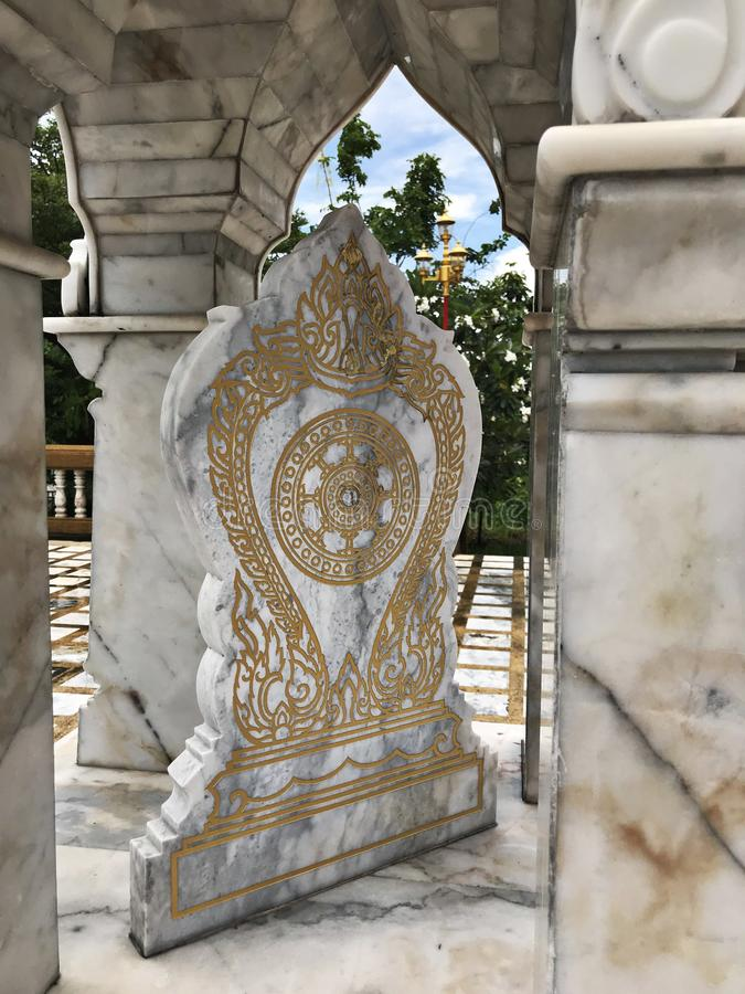 Boundary marker of a temple. Boundary marker of a temple in Thailand royalty free stock photography