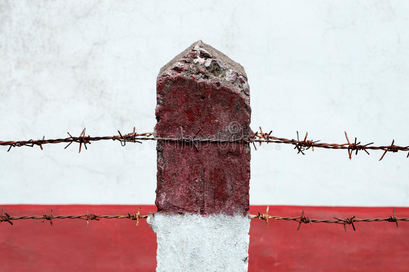 Boundary Post. royalty free stock image