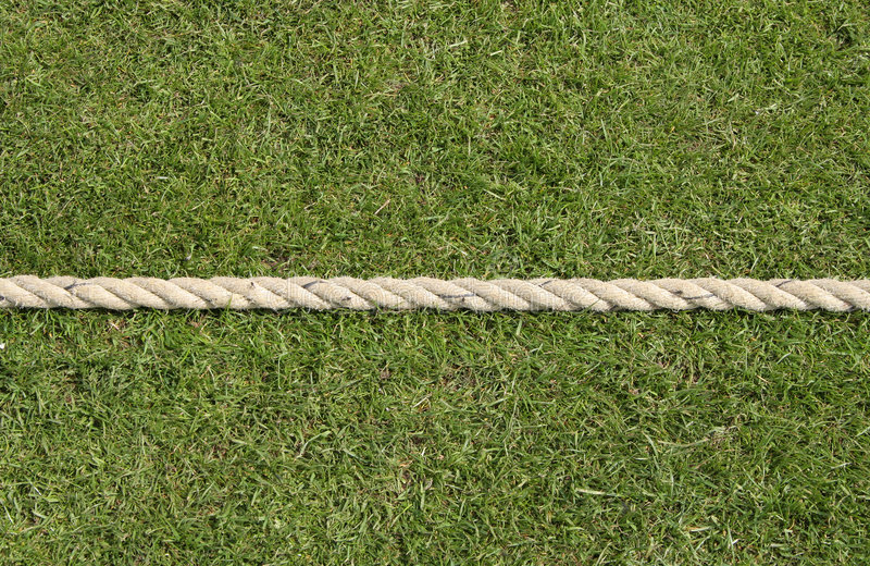Boundary rope. Four or six if you can hit past this stock images