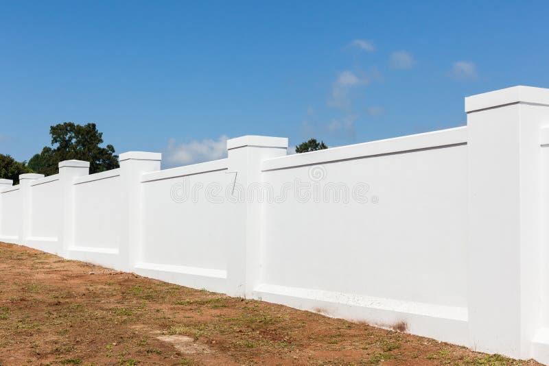 Boundary Wall White stock image