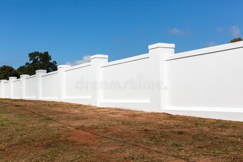 Boundary Wall White royalty free stock photo