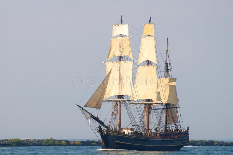 Bounty under sail stock photos