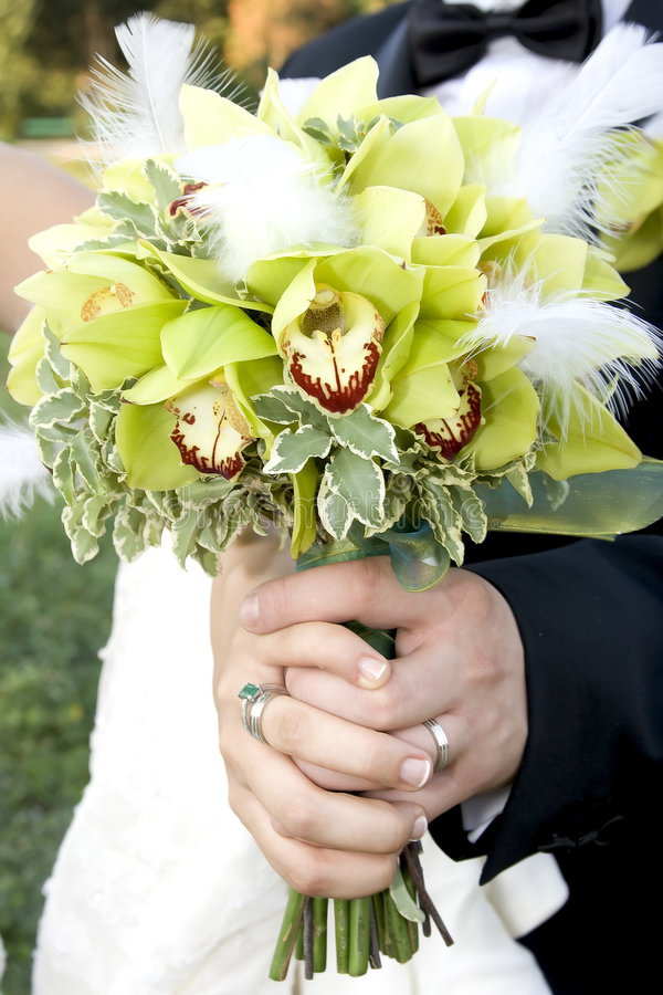 bouquebröllop arkivbilder