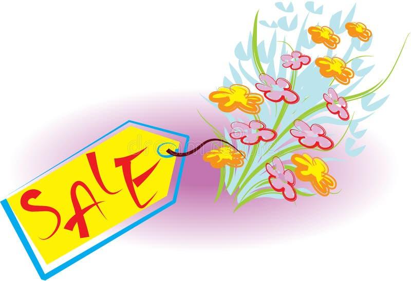 Bouquet à vendre illustration de vecteur
