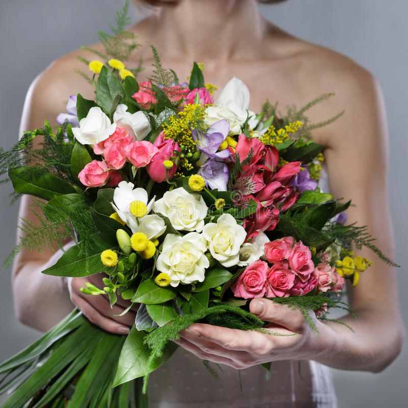 Download Bouquet stock photo. Image of floral, wedding, engagement - 24298234