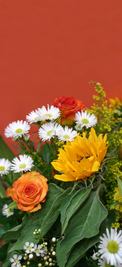 Bouquet with sunflower royalty free stock photography