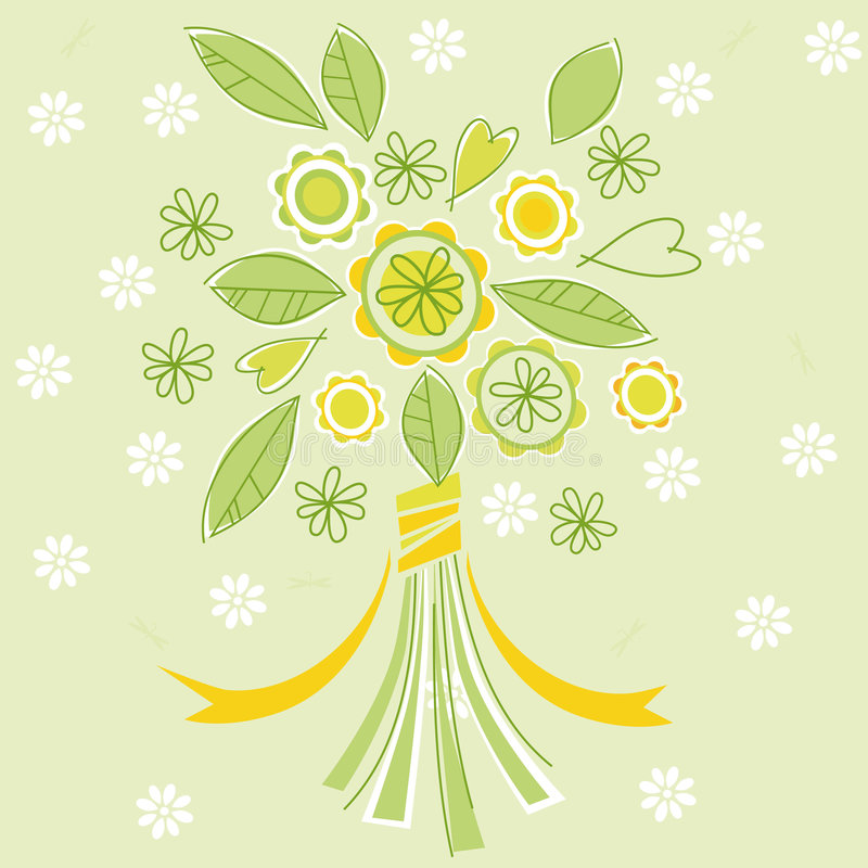 Download Bouquet stock vector. Image of pattern, graphic, background - 9135693