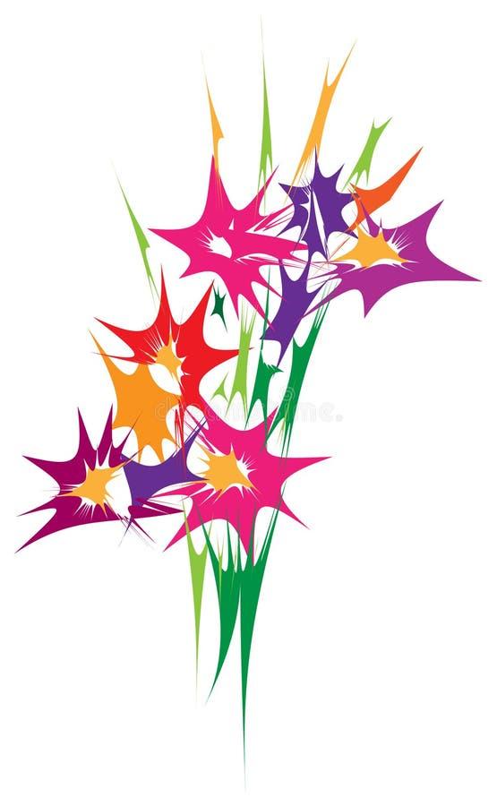 Bouquet abstrait de fleur illustration libre de droits