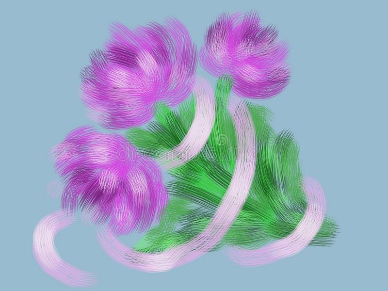 Bouquet of asters. royalty free stock images