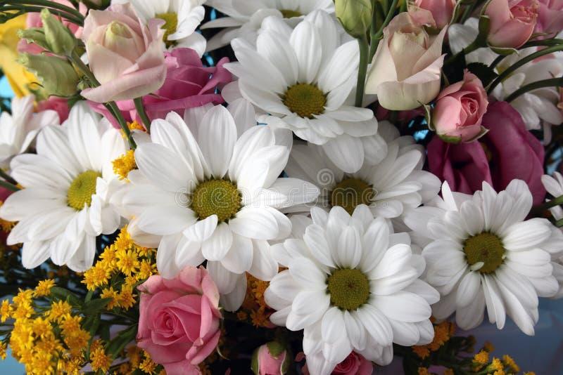 Bouquet avec des chrysanthèmes photographie stock libre de droits