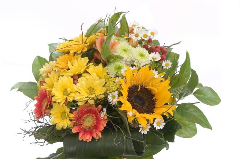 Bouquet avec le tournesol image libre de droits