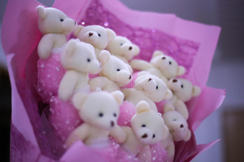 A bouquet of bears stock image