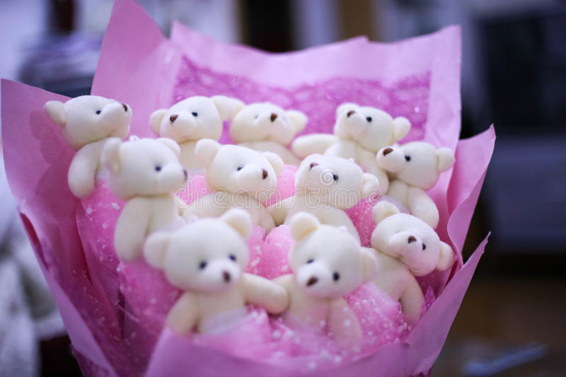 A bouquet of bears royalty free stock photography