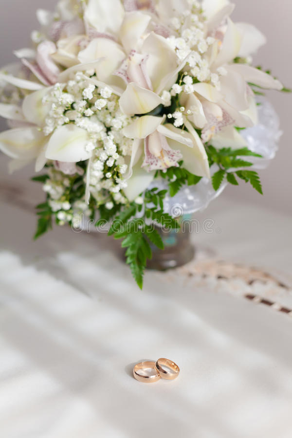 Bouquet of beautiful flowers in vase stock image