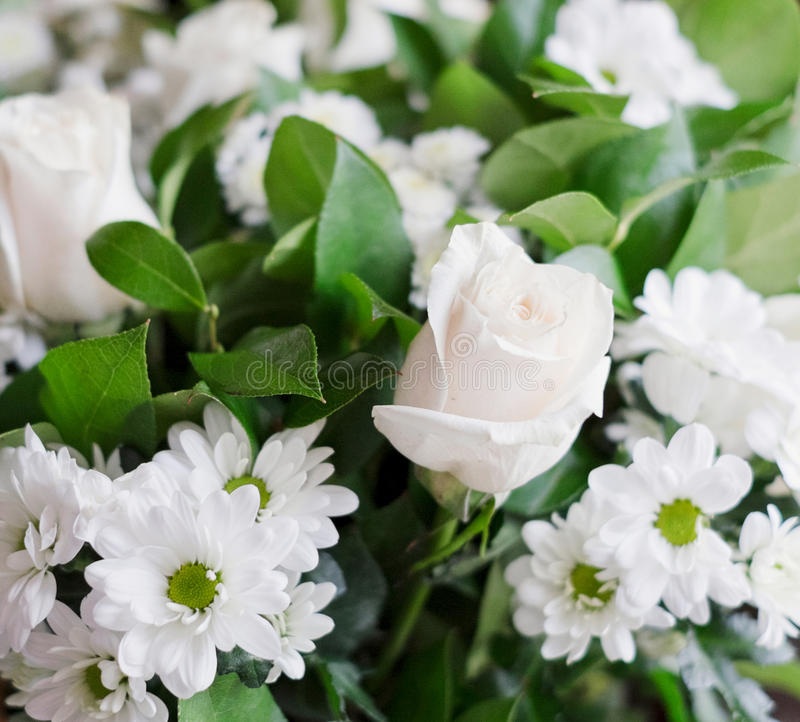 Bouquet blanc photo stock