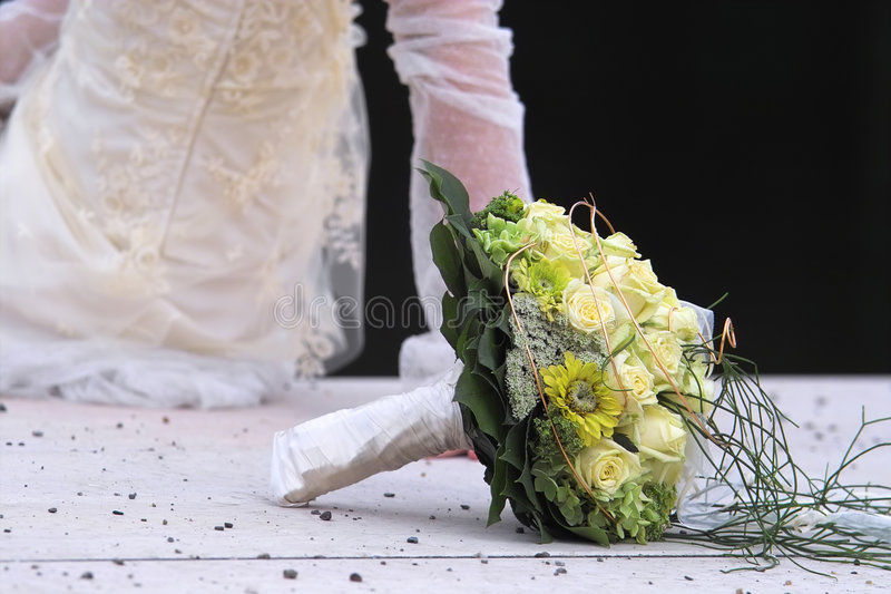 Bouquet for the bride stock photography