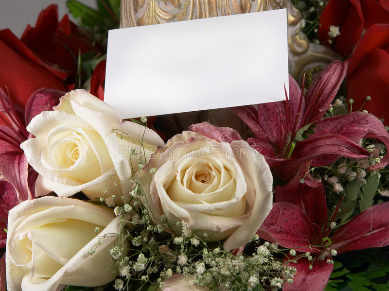 Bouquet and card 4 royalty free stock photo