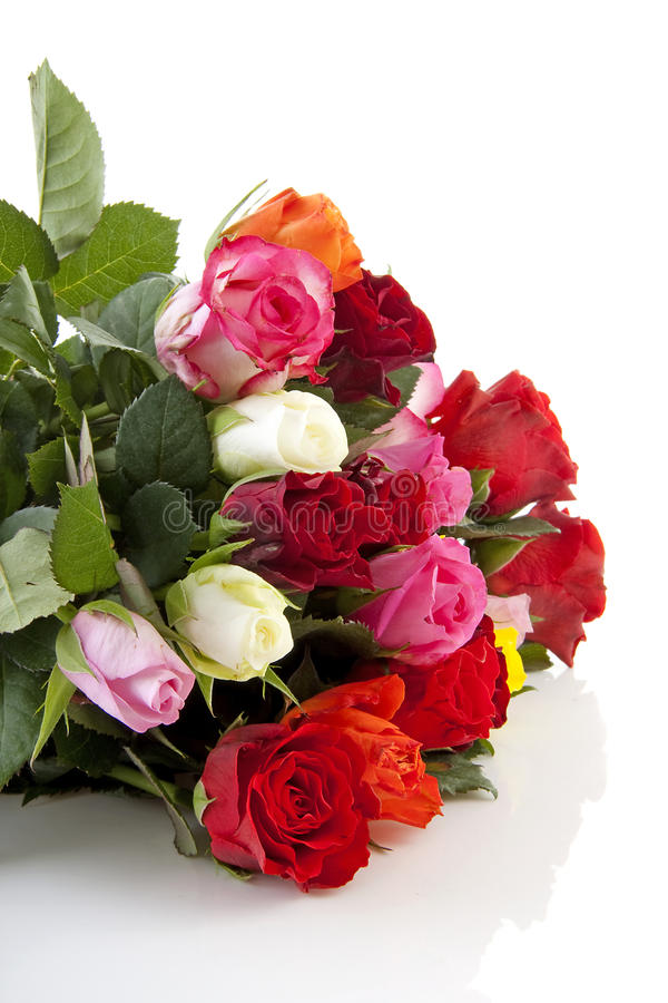 Download Bouquet of colorful roses stock photo. Image of colors - 14016008