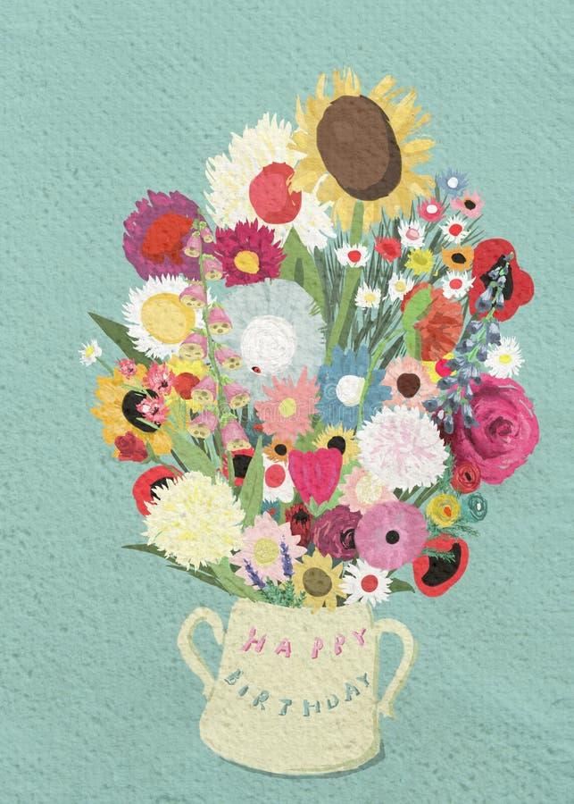 Bouquet d'anniversaire photo libre de droits