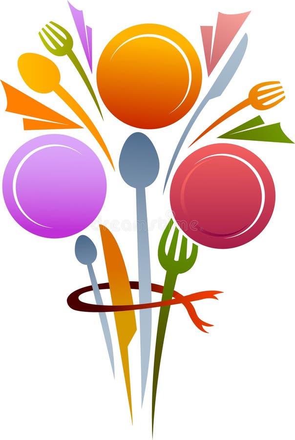 Bouquet d'articles de Dinning illustration de vecteur