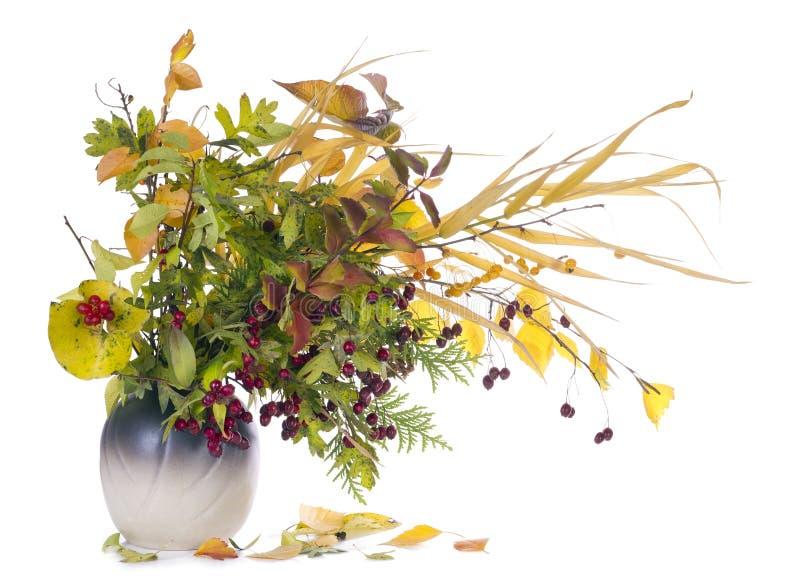Bouquet d'automne dans la cruche photo libre de droits