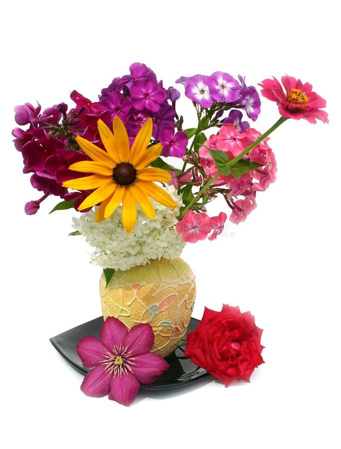 Bouquet dans un vase photos libres de droits