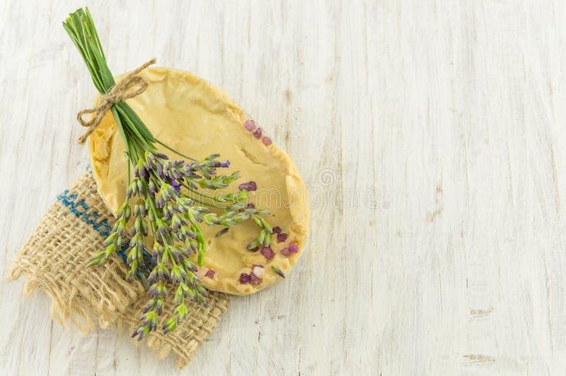 Bouquet de branches de savon et de fleur de lavande photographie stock libre de droits