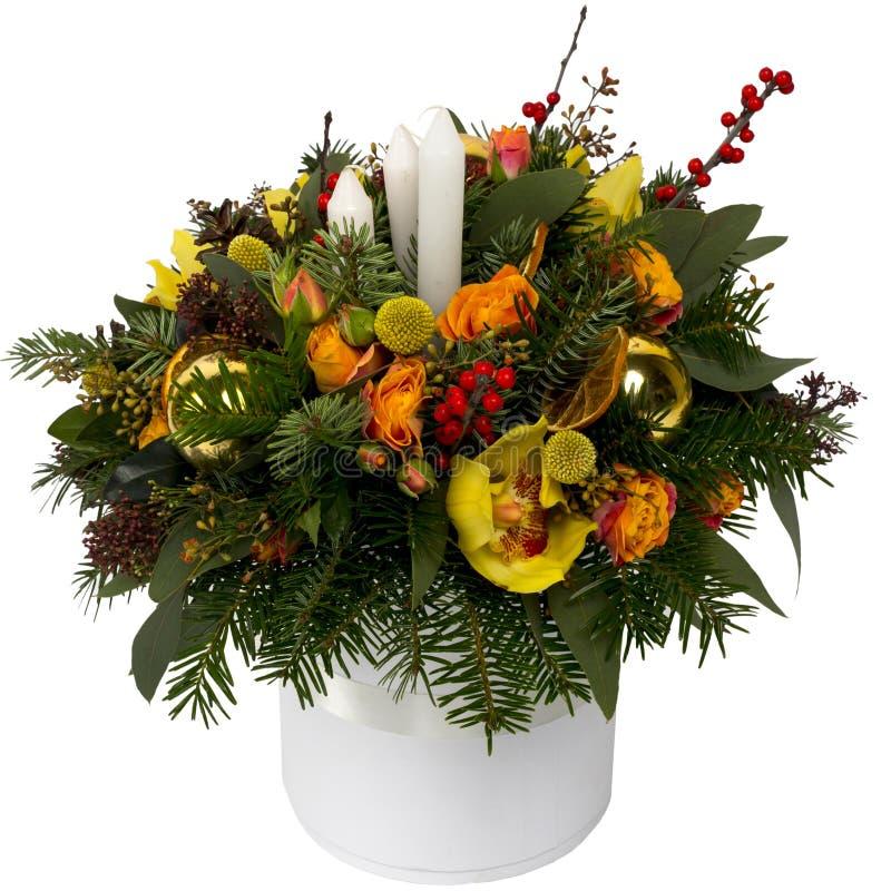Bouquet de fête des fleurs dans un beau paquet photographie stock libre de droits