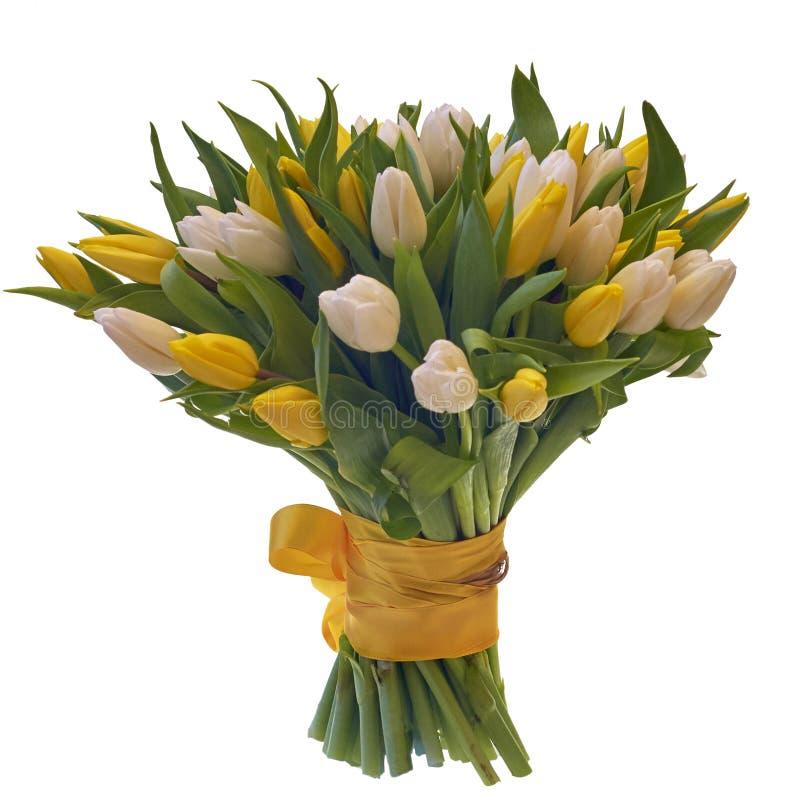 Bouquet de fête des fleurs dans un beau paquet image libre de droits