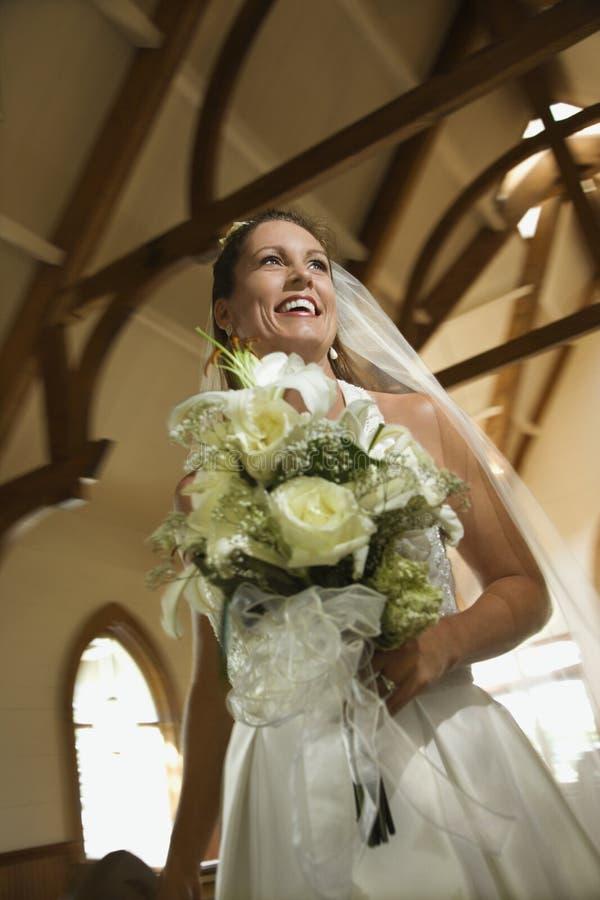 Bouquet de fixation de mariée. photos libres de droits