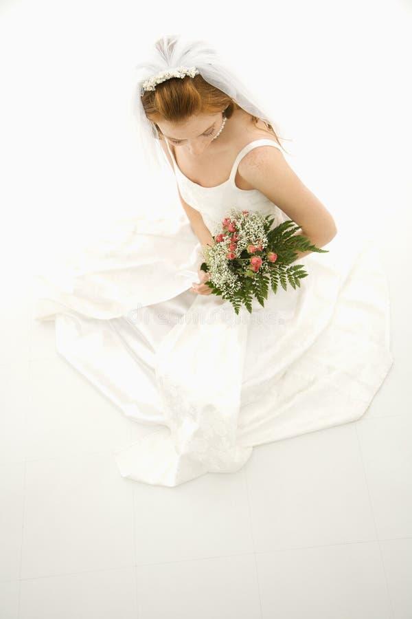 Bouquet de fixation de mariée. image libre de droits