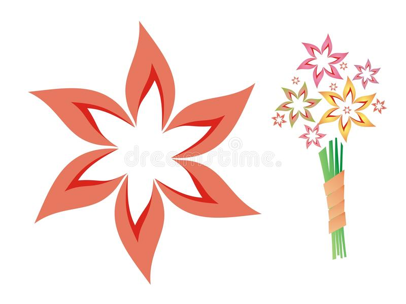 Bouquet de fleur illustration libre de droits