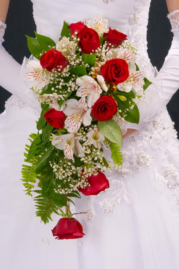Bouquet de la jeune mariée. photos stock