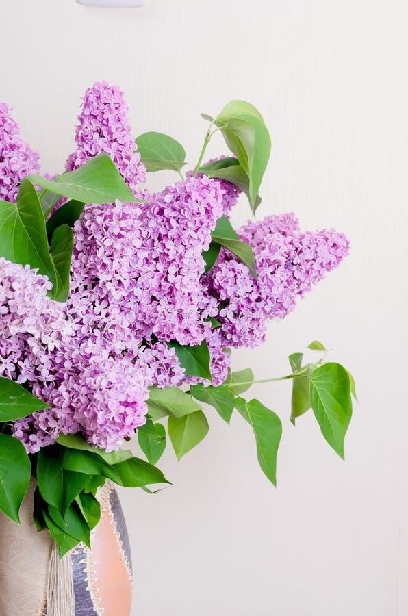 Bouquet de lilas dans un vase image libre de droits