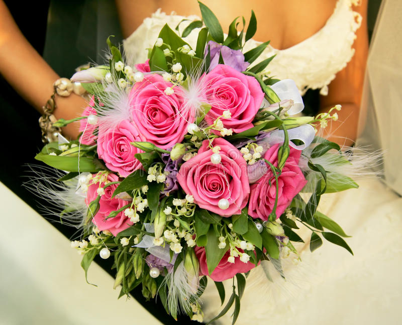 Download Bouquet de mariage image stock. Image du robe, agencement - 56488889