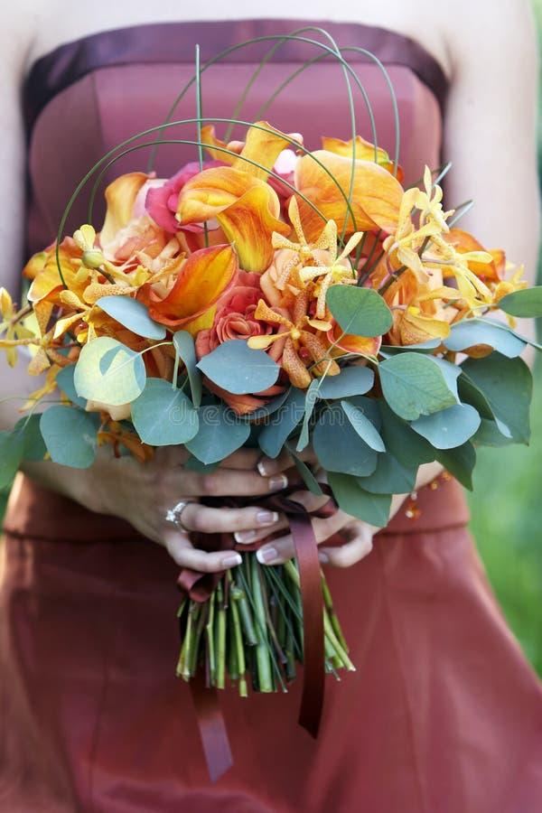 Bouquet de mariage des fleurs photo libre de droits