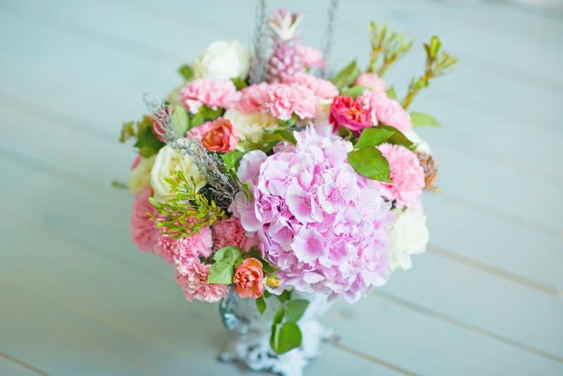 Bouquet de mariage la vue supérieure images libres de droits