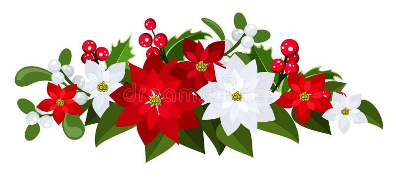 Bouquet de Noël. Illustration de vecteur. illustration de vecteur