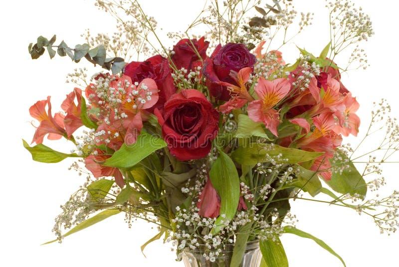 Bouquet de Rose avec des baisses de rosée image libre de droits
